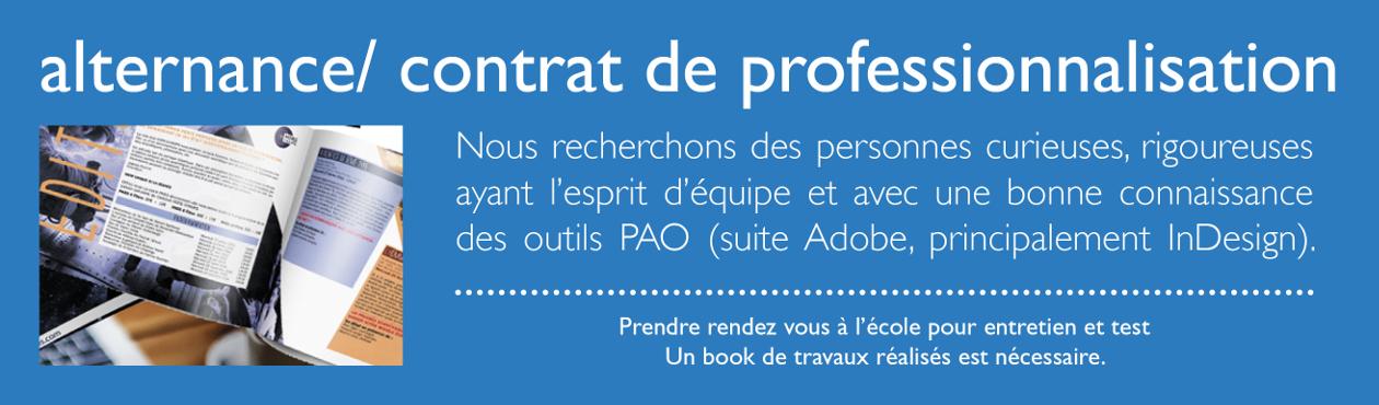contrat professionnalisation et alternance graphiste multimedia